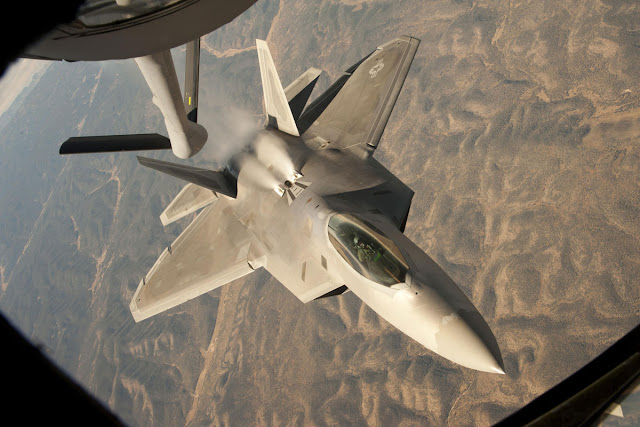 F-22 Raptor Just After Air Refueling