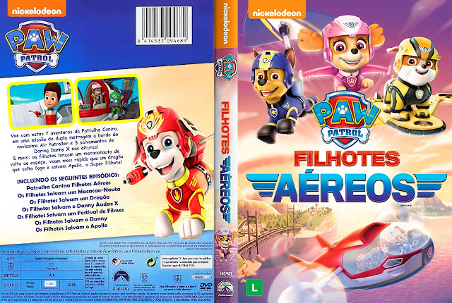 Capa DVD Paw Patrol Filhotes Aéreos [Exclusiva]
