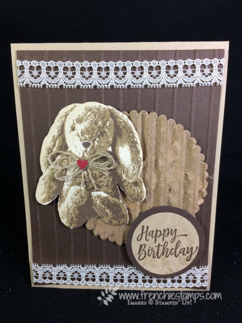 Sweet Little Something, Recycle shipping box, 3 step stamping, Stampin'Up!, Vintage Greeting Cards,