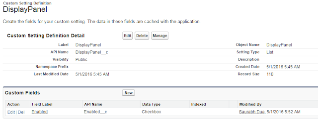 Custom Settings Salesforce