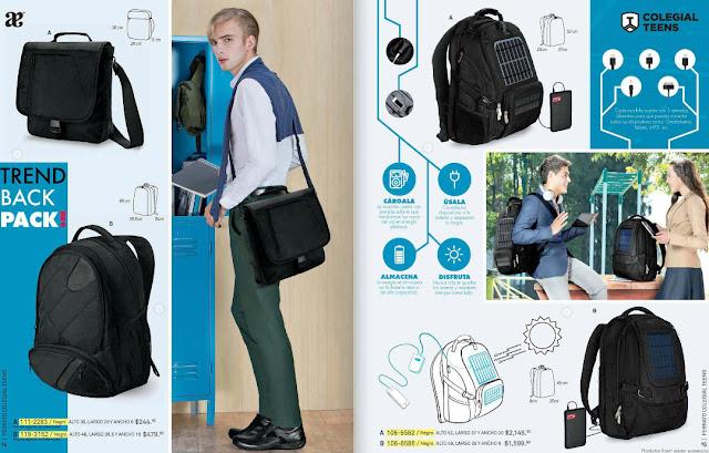 mochila con panel solar  de andrea