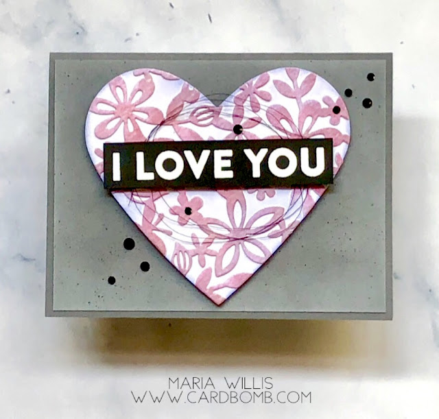 #mariawillis, #cardbomb, #cards, #cardmaking, #handmade, #handmadecards, #heroarts, #heart, #valentinesday, #stamp, #ink, #paper, #art, #fancy, #diecut,