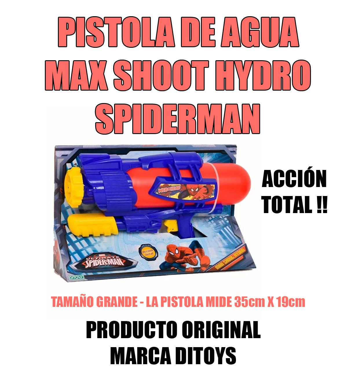 Juguetería León: PISTOLA DE AGUA GRANDE SPIDERMAN MAX SHOOT HYDRO ...