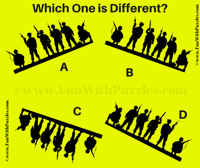It is Picture Riddle in which your task is to find the different Contra Picture Puzzle