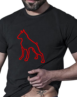 BoXer-Dog-T-T-Shirt-Black-Red-Menswear-Gayrado-Online-Shop