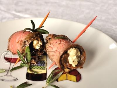 Flank Steak with Gorgonzola Walnut Spread