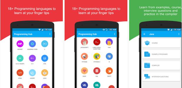 تعلم جميع لغات البرمجة من خلال الهاتف
