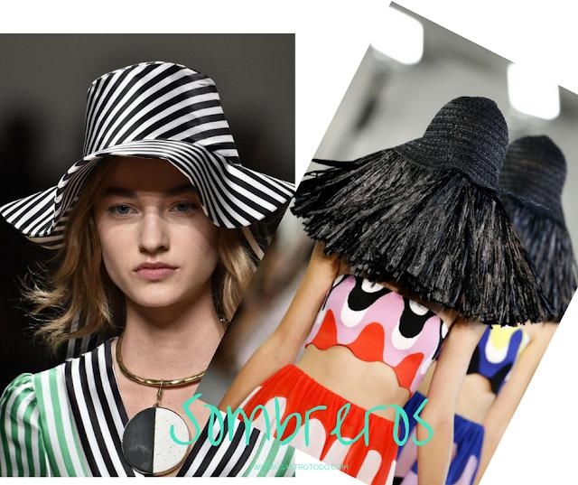 Rayas versus flecos: sombreros primavera-verano