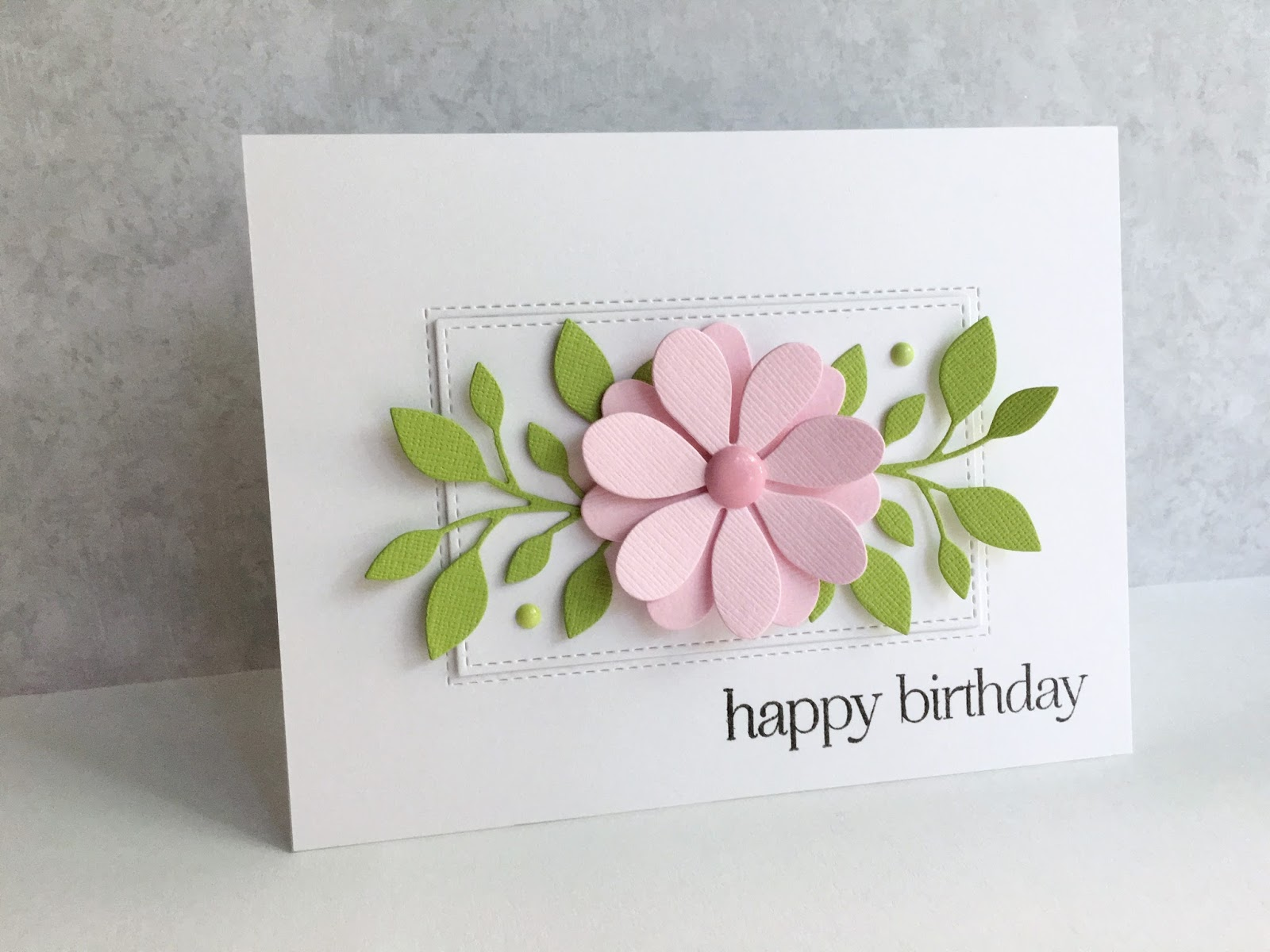 Im in haven a birthday flower i combined them with one of my favorite big flower dies the penny black pinwheel die and made a birthday card izmirmasajfo