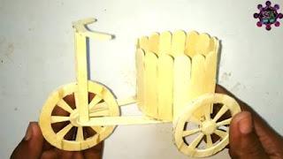 Sepeda hasil karya dari stik es krim