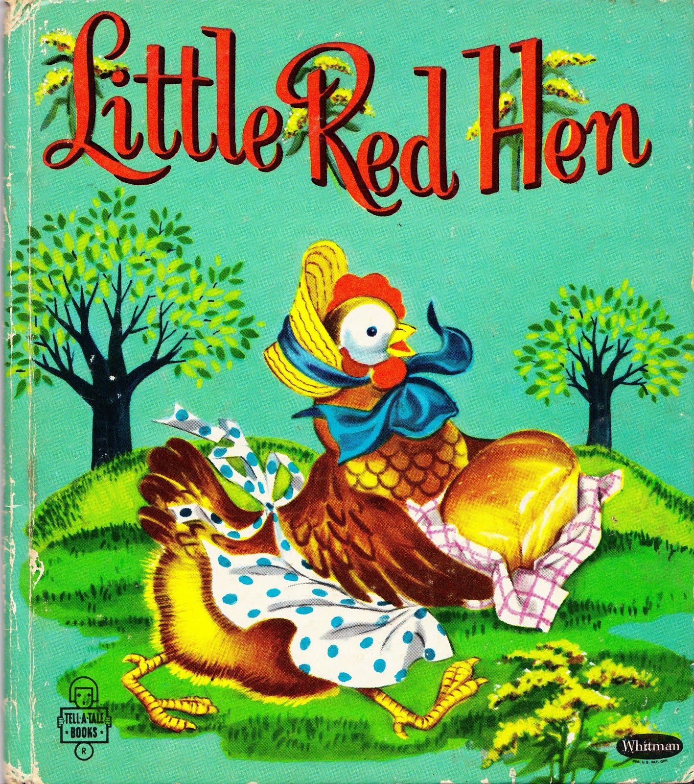 My Vintage Mending Little Red Hen And A Winner