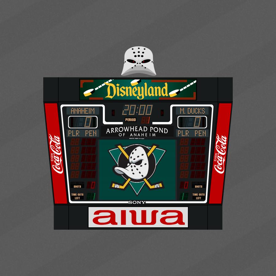 Honda Val D Or >> Anaheim Ducks 1993-1994 ~ FF | Scoreboards