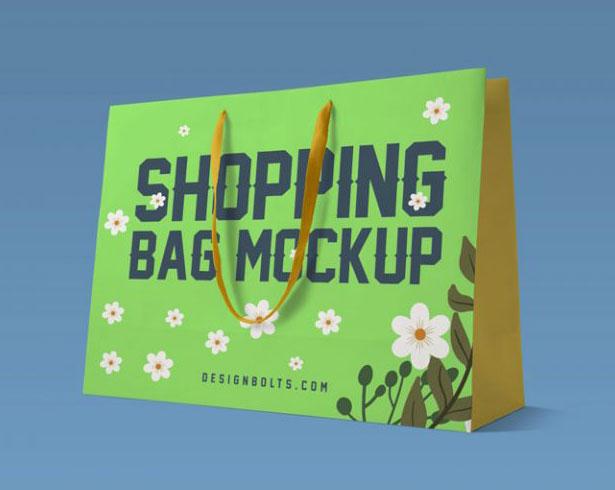 Gratis Mockup Packaging/Kemasan PSD 2018 - Paper Shopping Bag Mockup PSD