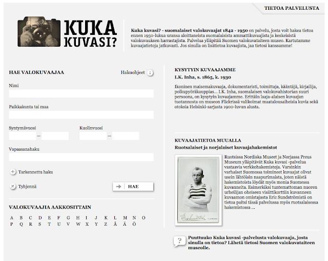 Kuka kuvasi? - suomalaiset valokuvaajat 1842 - 1950