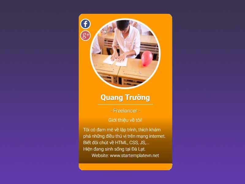 Hướng dẫn tạo Profile Card đơn giản từ HTML và CSS với hiệu ứng tuyệt đẹp