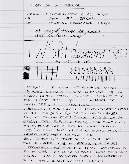TWSBI Diamond 580AL written review