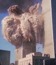 The South Tower collapsing