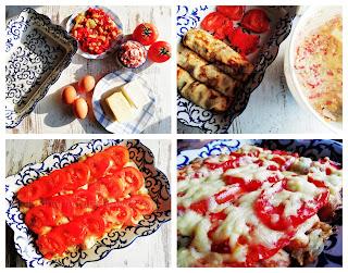 Рецепта за солени палачинки с крема сирене, печени чушки и варено-пушен свински бут
