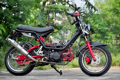 Modifikasi Motor Honda Grand Hitam