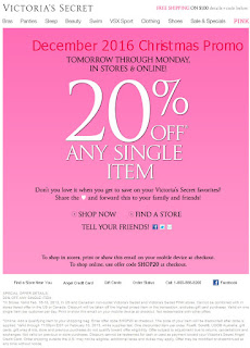 Victoria's Secret coupons december