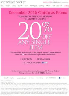Victoria's Secret coupons december