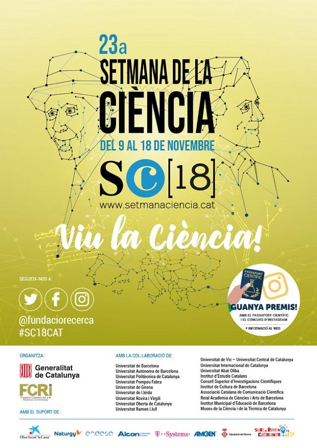 Cartell de la 23a Setmana de la Ciència