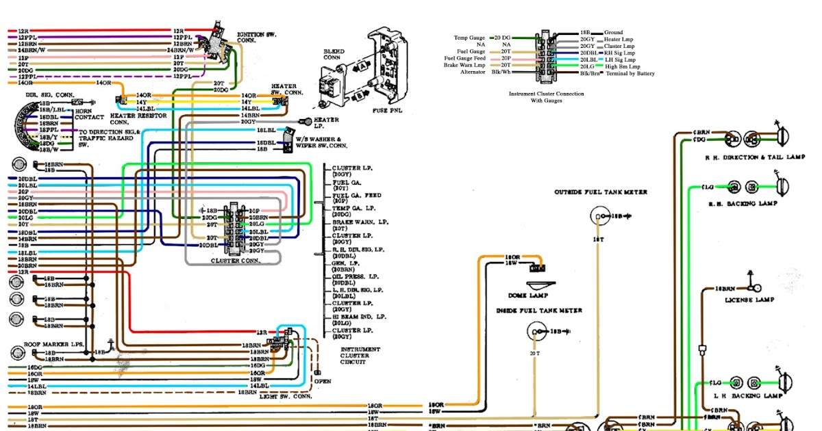 Free Auto Wiring Diagram: 19671972 Chevrolet Truck Instrument Panel And Bulkhead Connector