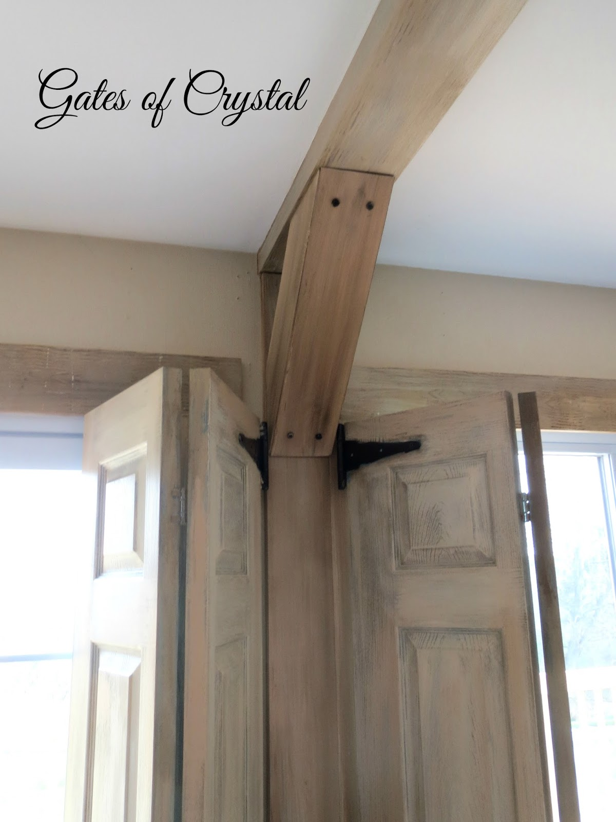 Gates of crystal how to make faux beams for Fake wood beams for ceiling