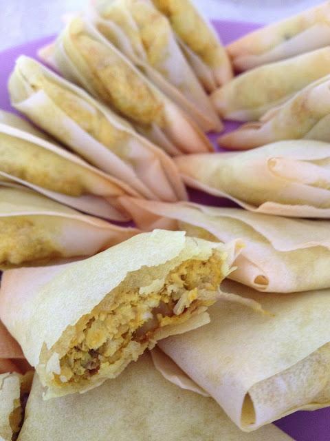 samoussas feuilles de brick poulet citron