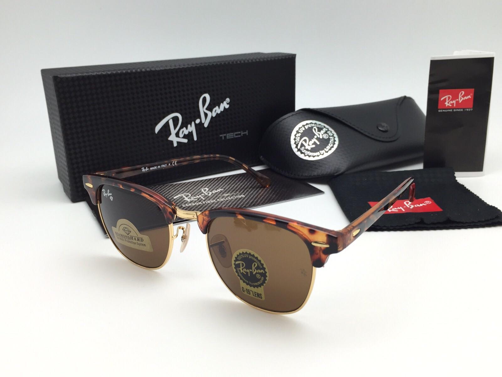 Kacamata Rayban Clubmaster Lensa Kaca Diamond Hard Motif