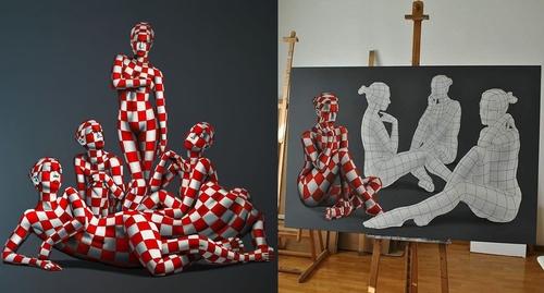 00-Danilo-Martinis-Oil-Paintings-of-Models-Wearing-Geometry-www-designstack-co