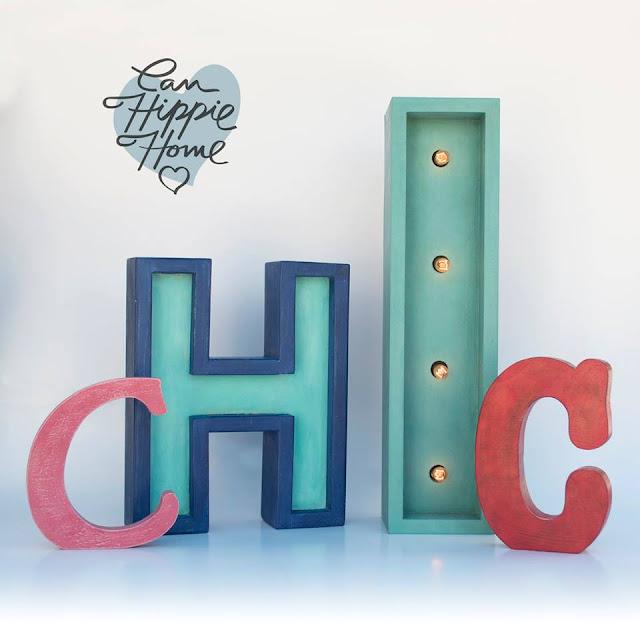 Artesanos de letras de madera: Can Hippie Home