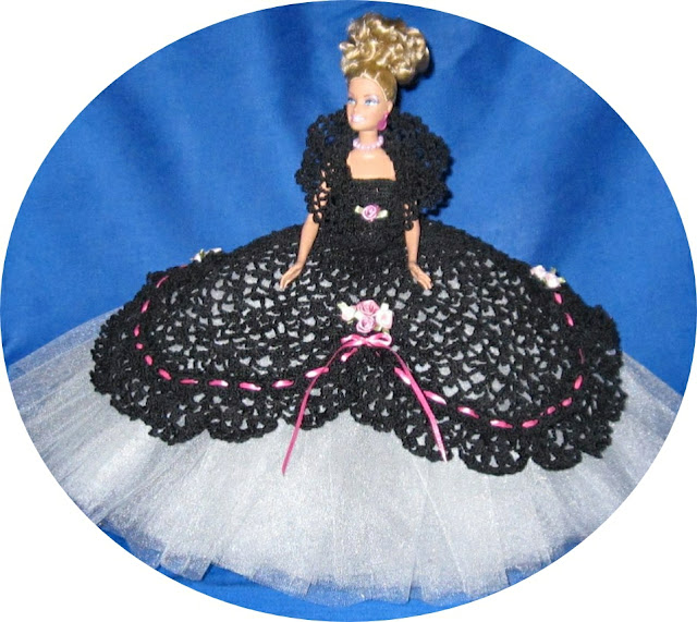 Barbie Crochet Cotillion Ball Gown Handmade