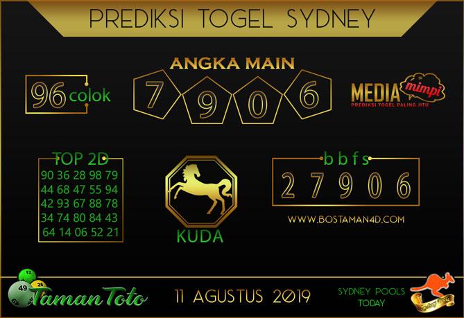 Prediksi Togel SYDNEY TAMAN TOTO 1 AGUSTUS 2019