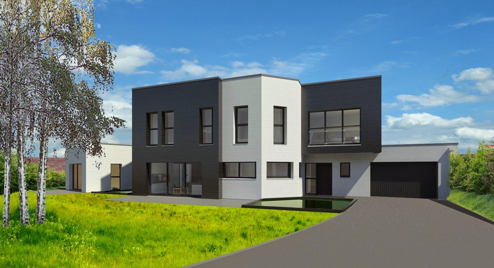 jacques lenain architecte lille construction d 39 une maison a ossature bois bbc a carnin. Black Bedroom Furniture Sets. Home Design Ideas