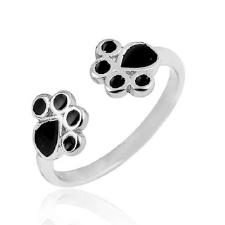 Cat Rings Jewelry Black Paw