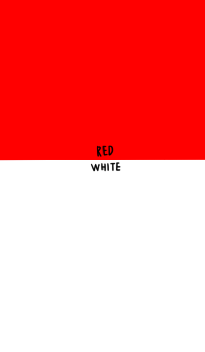Red and white. The bye color