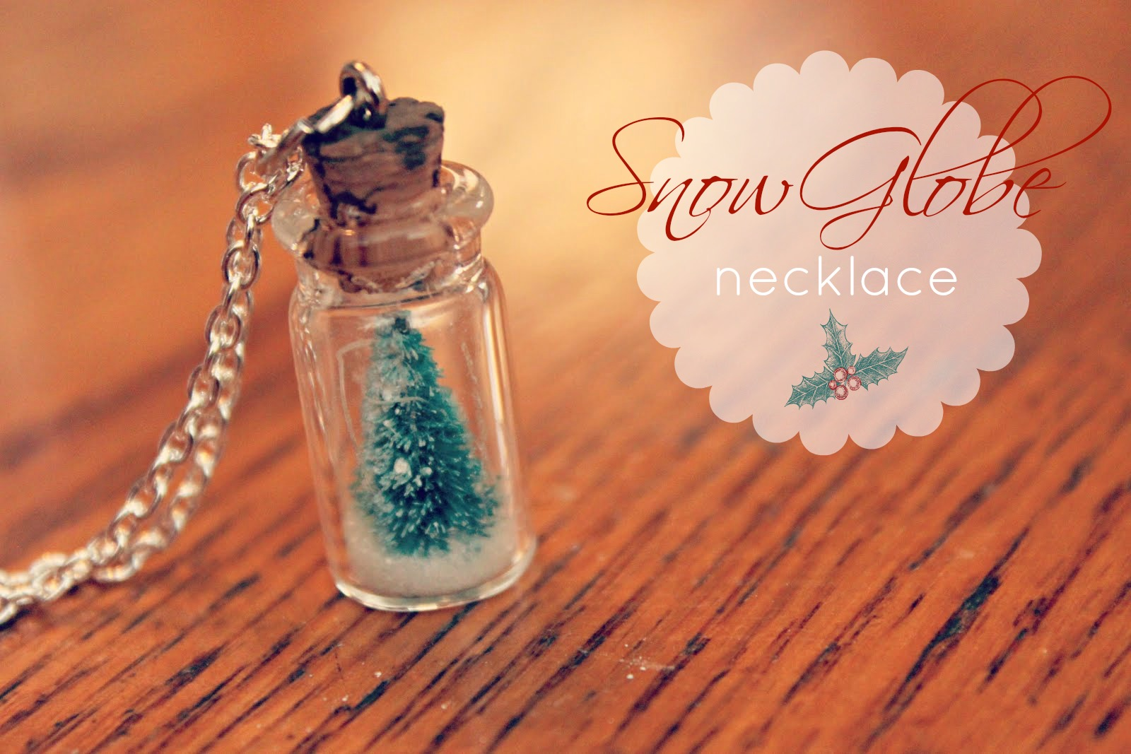 Eatsleepmake Craft Snow Globe Necklace