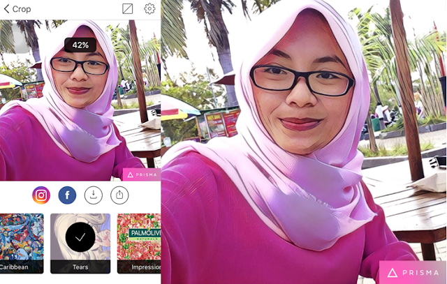 Sesuaikan Intensitas Filter prisma