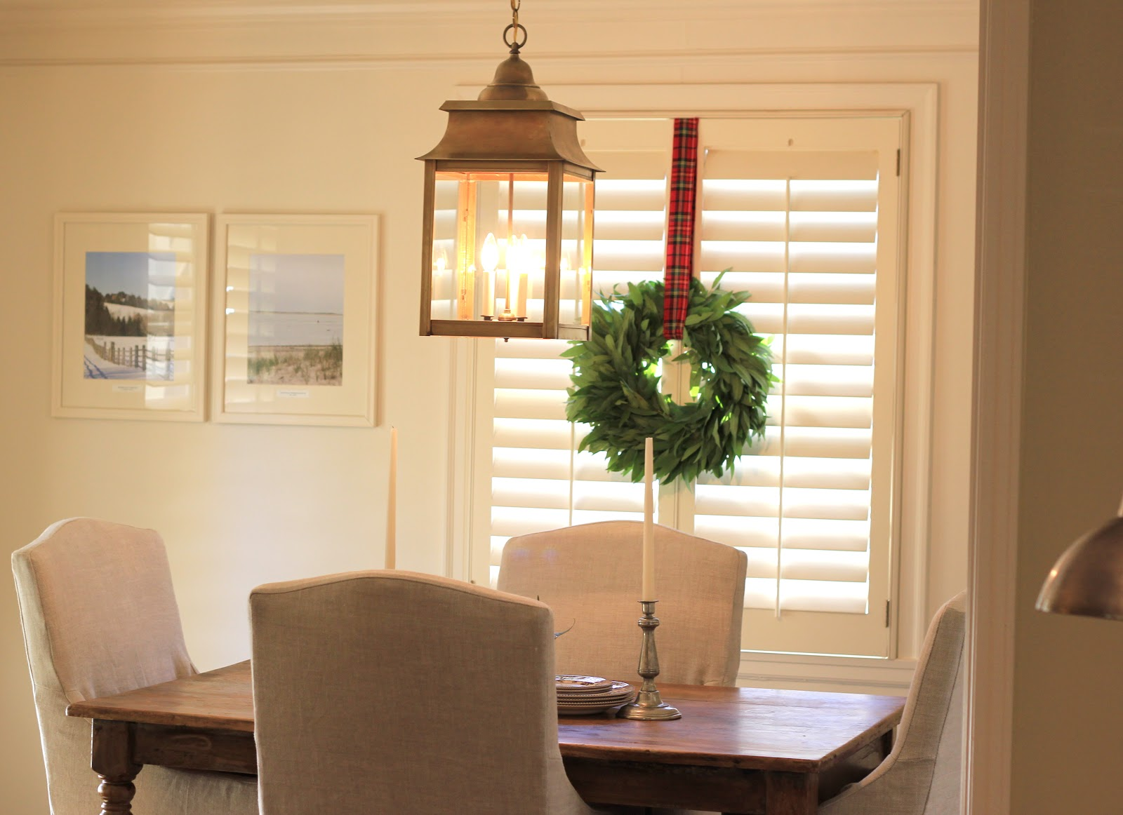 Jenny Steffens Hobick Cape Cod Co Lantern  Dining Room