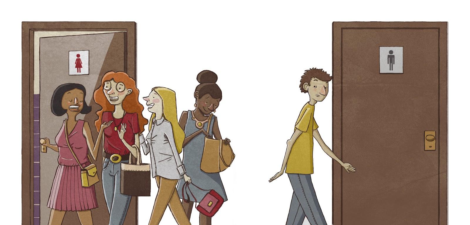 Por que as mulheres vão juntas ao banheiro? Me Ajuda Berenice