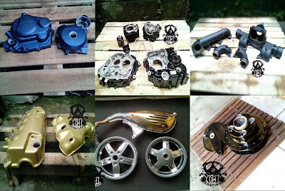Powder Coating dan Seni Restorasi Motor