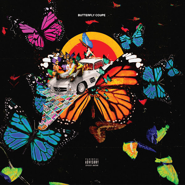 MilanMakesBeats - Butterfly Coupe (feat. Yung Bans & Cash Carti) - Single Cover