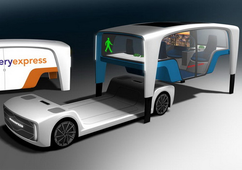 Tinuku Rinspeed showcased Snap vehicles in chassis and pod platform
