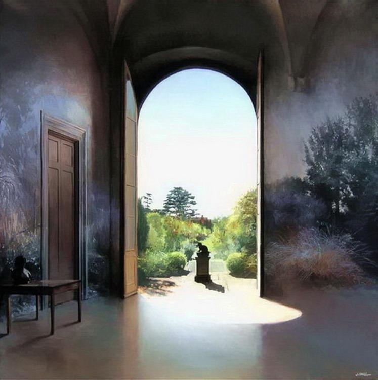 Cuadros pinturas oleos pinturas de interiores casas - Pinturas de casas interiores ...