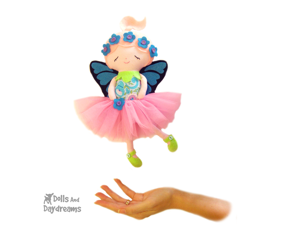 Dolls and daydreams doll and softie pdf sewing patterns flower flower fairy sewing pattern pdf all finished jeuxipadfo Choice Image