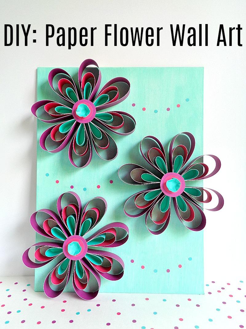 Running With A Glue Gun Diy Paper Flower Wall Art