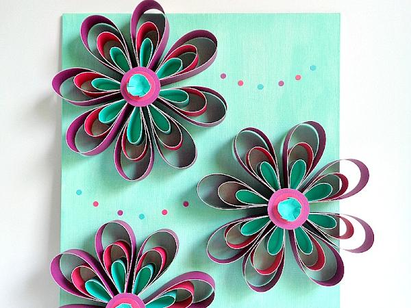 DIY: Paper Flower Wall Art