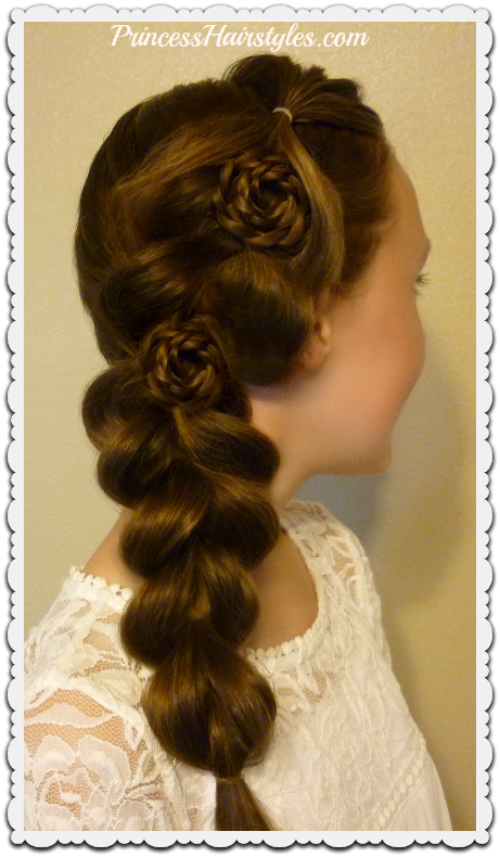 Homecoming Hairstyles Flower Pull Through Side Braid Hairstyles