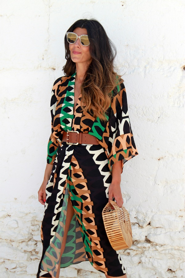 vestido drapeado estampado, vestido zara, estampado etnico, estampado africano, chitenge